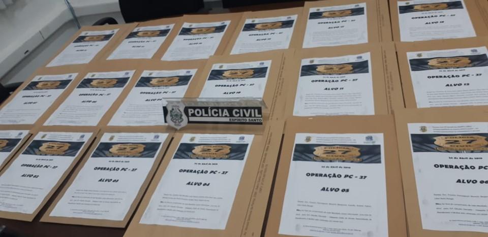 Polícia Civil participa de operação nacional e prende 55 pessoas no Estado